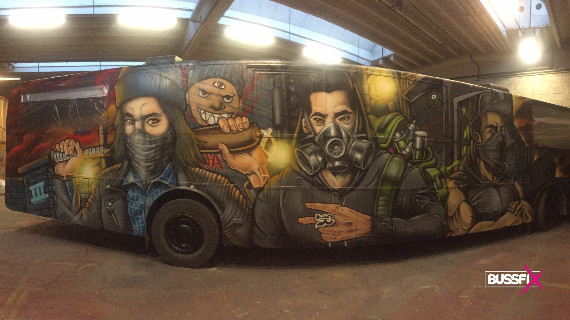 Graffiti russebuss 2019