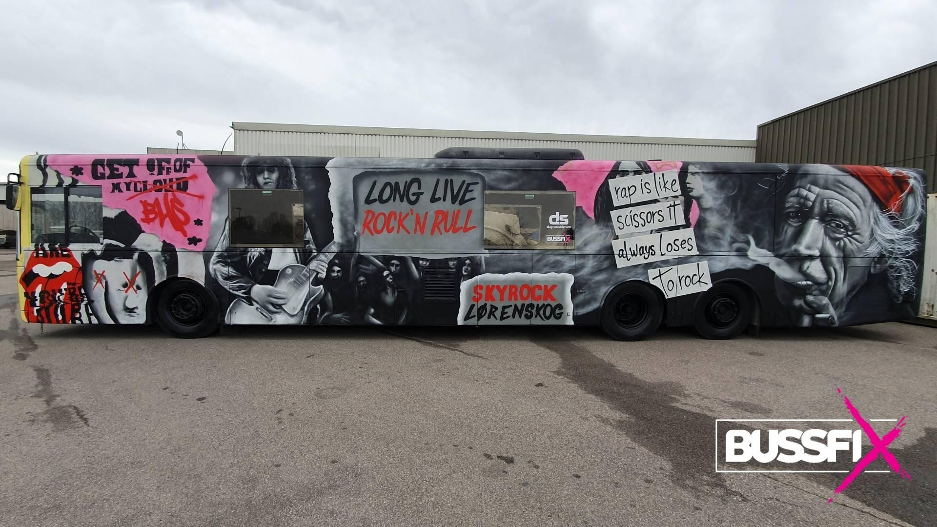 Graffiti russebuss Skyrock 2020