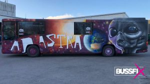 Graffiti kjøpe russebuss ad astra 2020