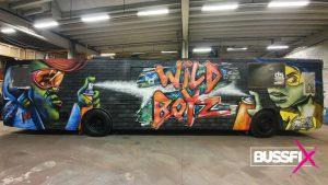 Graffiti russebuss Wild Boyz 2020