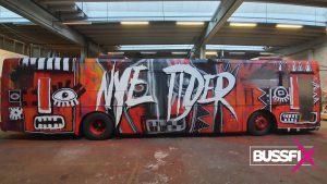 Graffiti russebuss Nye Tider 2019